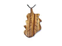 _0020_Dřevěný přívěšek-list dubový-zebrano