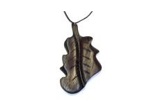 _0021_Dřevěný přívěšek-list dubový-wenge