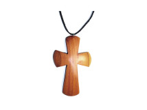 _0047_Dřevěný přívěšek - kříž - švestka
