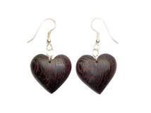 _0055_Dřevěné náušnice-srdce-wenge