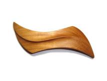_0090_Dřevěná spona-vlnka vzor-třešeň