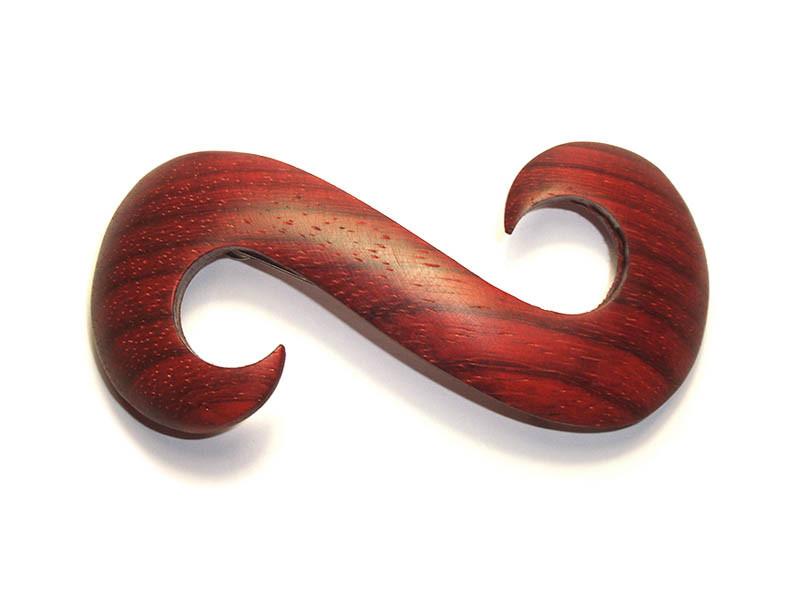 _0112_Dřevěná spona-had-padouk