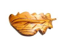 _0157_Dřevěná spona - dubový list - zebrano