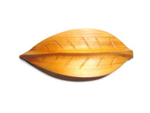 _0163_Dřevěná spona - bukový list - třešeň